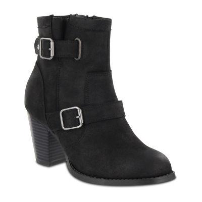 Mia Amore Elenaa Womens Stacked Heel Zip Bootie