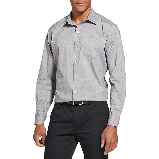 82f975caaffcc Van Heusen Traveler Stretch Non-Iron Long-Sleeve Button-Down Shirt -  JCPenney