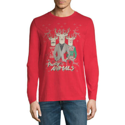 Reindeer Party Animals Christmas Graphic Tee