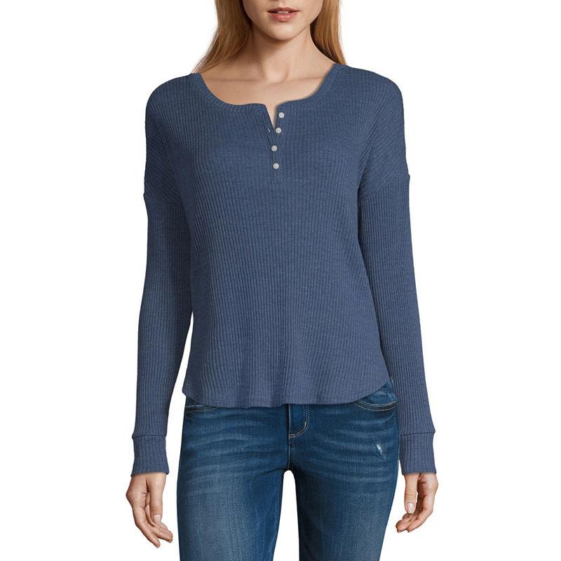 ca2ead818f9b ... Arizona Long Sleeve Scoop Neck T-Shirt Juniors
