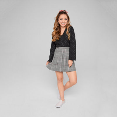 Brooklyn Top Pick - Arizona Plaid Woven Pleated Skirt