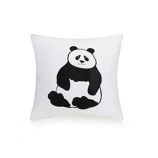 Urban Playground Panda Square Throw Pillow