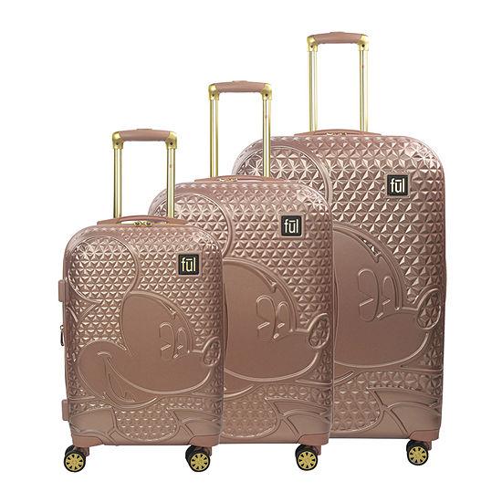 Ful Disney Mickey Mouse Textured Hardside Lightweight Luggage Set