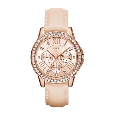 Relic By Fossil Womens Multi-Function Leather Bracelet Watch - Zr15907, One Size , No Color Family