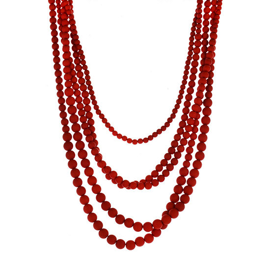 Bijoux Bar Red Beaded Necklace
