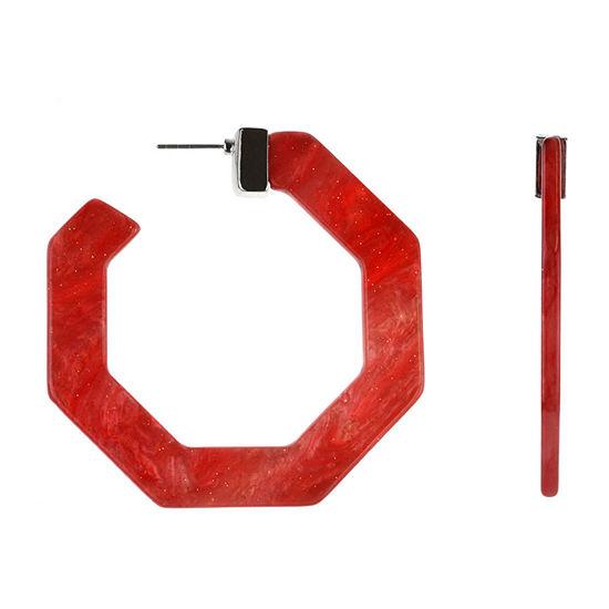 Bijoux Bar Red Hoop Earrings