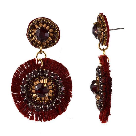 Bijoux Bar Red Drop Earrings