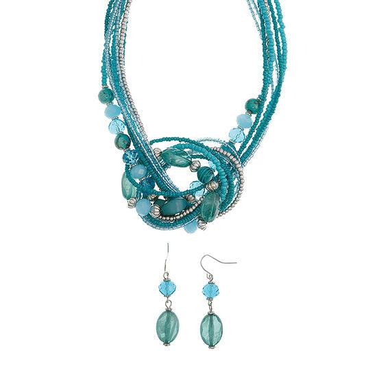Mixit Blue Seedbead 2-pc. Jewelry Set