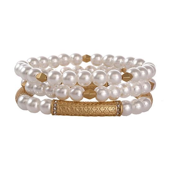 Erica Lyons 3-pc. Beaded Bracelet
