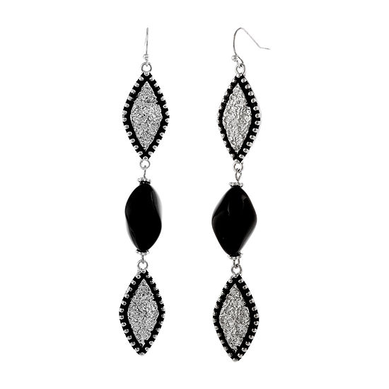 Erica Lyons Black Drop Earrings