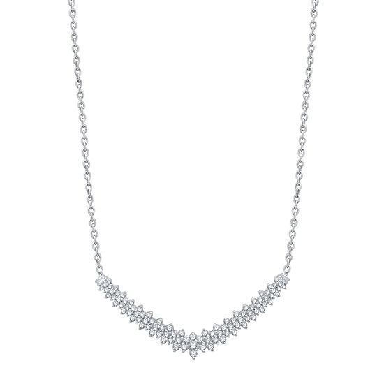 10K White Gold 17 Inch Cable Chain Necklace