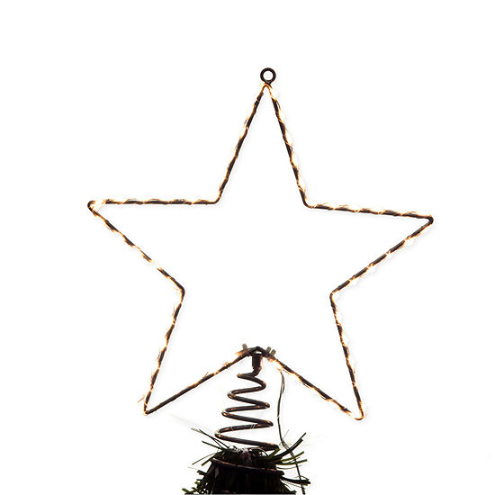 Kurt Adler 13-Inch Metal Lighted Led Star Christmas Tree Topper