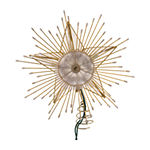 Kurt Adler 10-Inch 5-Point Capiz Star Tree Topper With Rays And Beads