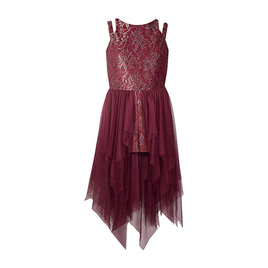Bonnie Jean Girls Sleeveless Floral A-Line Dress - Preschool / Big Kid Plus