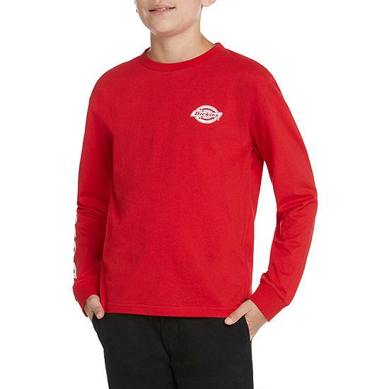 Dickies - Big Kid Boys Crew Neck Long Sleeve Graphic T-Shirt
