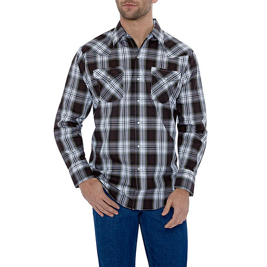 Ely Cattleman Classic Plaid Western Shirt Big & Tall