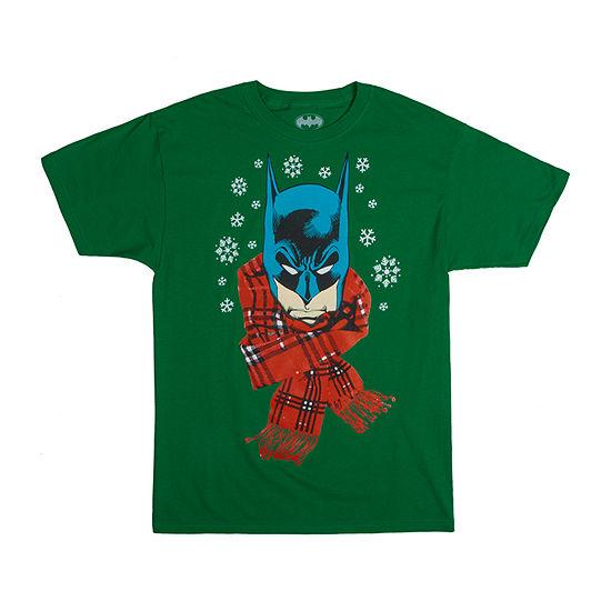 Mens Christmas Batman Graphic T-Shirt