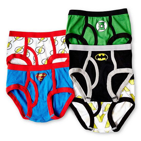 Little Boys 5 Pack Justice League Briefs