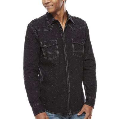 Decree Long Sleeve Button-Front Shirt