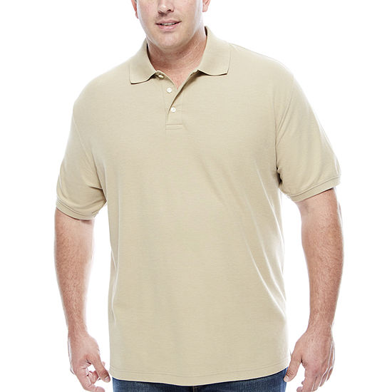61019bc49caf The Foundry Big   Tall Supply Co Short Sleeve Easy Care Polo JCPenney