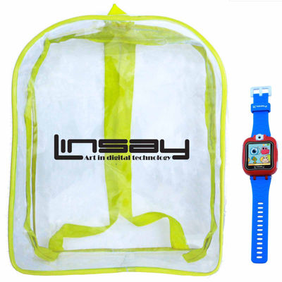 Linsay 1.5 Kids Blue Smart Watch With Bag