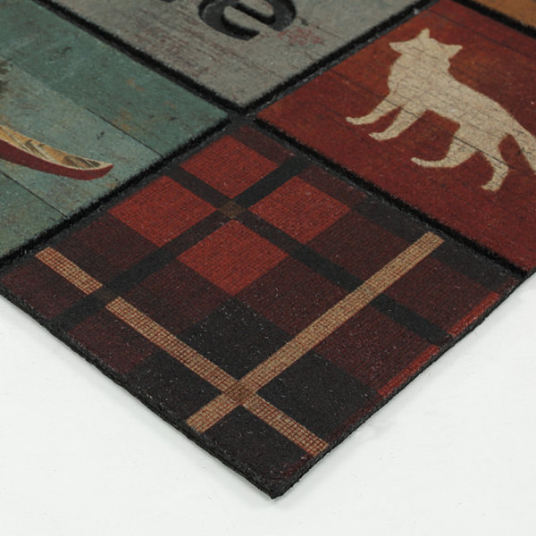 "Mohawk Home® Lodge Squares Rectangular Doormat 18""X30"""