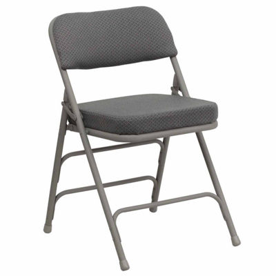 HERCULES Series Premium Curved Triple Braced & Double Hinged Fabric Upholstered Metal Folding Chair