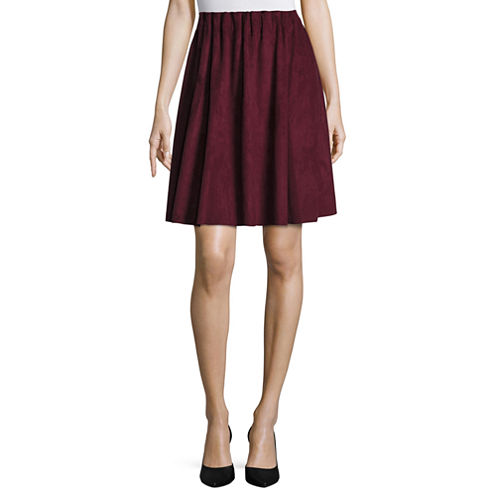 Worthington Knit Pleated Skirt