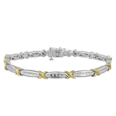 1 CT. T.W. Diamond 10K White Gold Bracelet