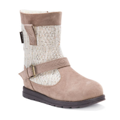 Muk Luks Womens Gina Winter Boots Water Resistant Pull-on