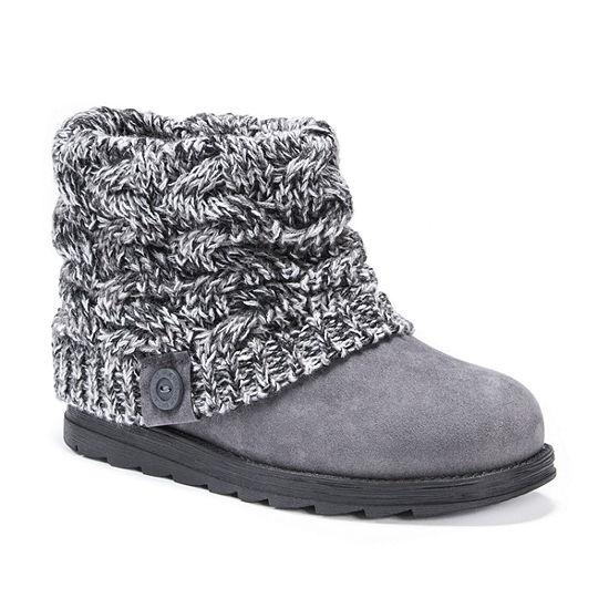 Muk Luks Womens Patti Water Resistant Winter Boots Slip-on