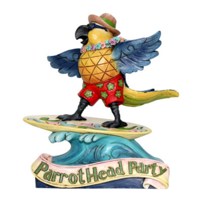Jim Shore Margaritaville Surfing Parrot Figurine