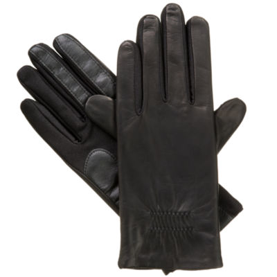 Isotoner Stretch Leather Glove with smarTouch® Technology