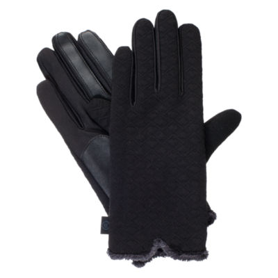 Isotoner Qulited Textured Glove W/ with smarTouch® Technology