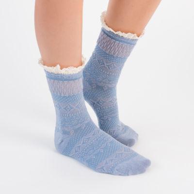 Muk Luks 3 Pair Boot Socks - Womens