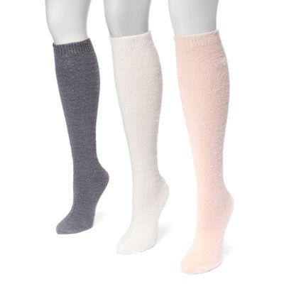 Muk Luks 3 Pair Knee High Socks - Womens