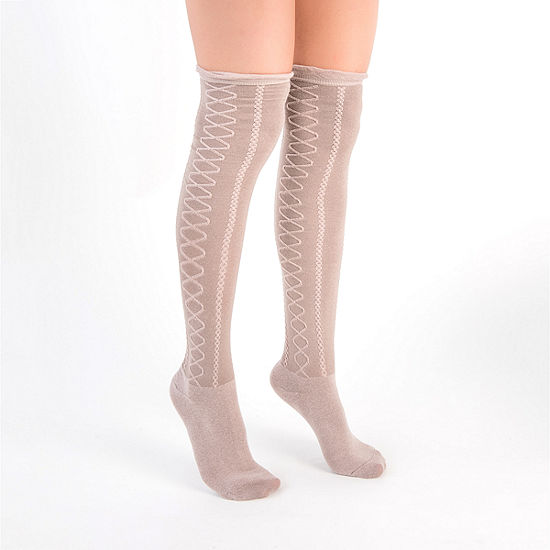 Muk Luks 3 Pair Over the Knee Socks Womens