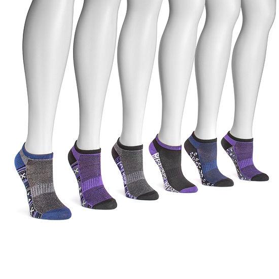 Muk Luks 6 Pair No Show Socks - Womens