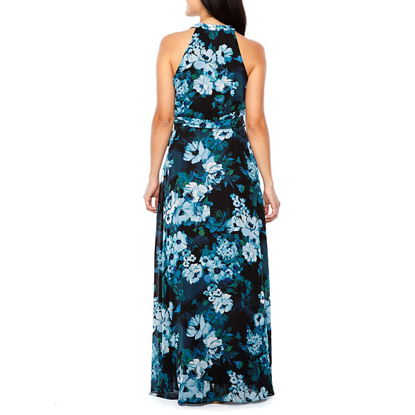 Be by CHETTA B Sleeveless Floral Maxi Dress