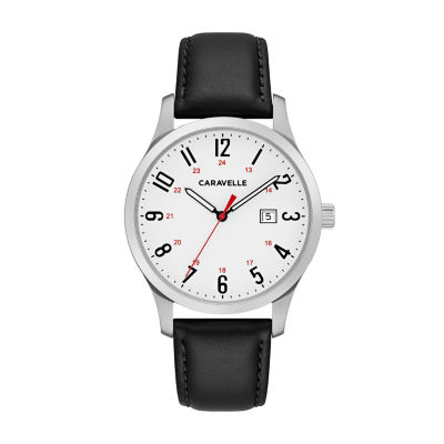 Caravelle Mens Black Strap Watch-43b152