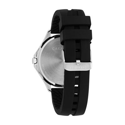 Caravelle Mens Black Strap Watch-43b154