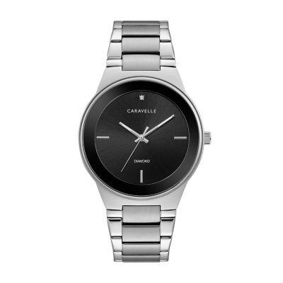 Caravelle Mens Silver Tone Bracelet Watch-43d106