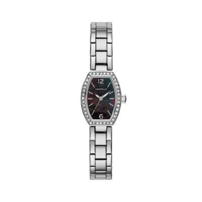 Caravelle Womens Silver Tone Bracelet Watch-43l204