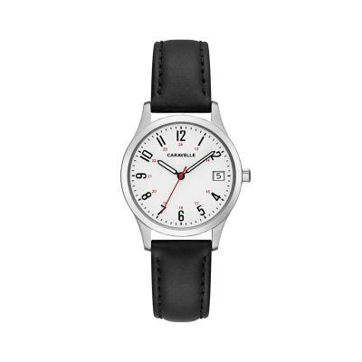 Caravelle Womens Black Strap Watch-43m118