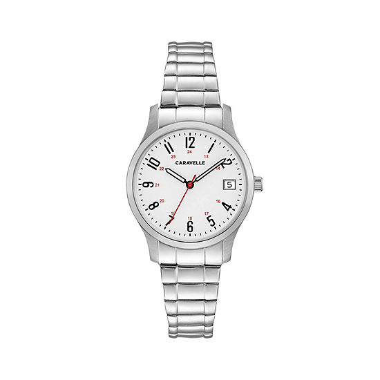 Caravelle Designed By Bulova Womens Silver Tone Stainless Steel Bracelet Watch-43m119