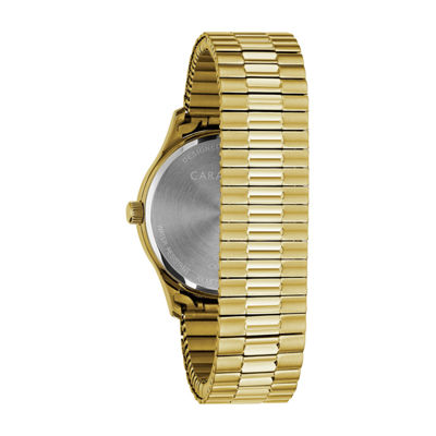 Caravelle Mens Gold Tone Bracelet Watch-44b117