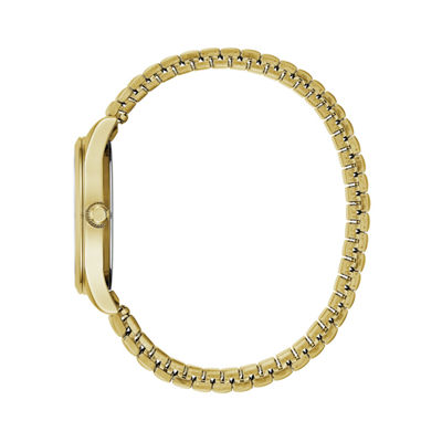 Caravelle Womens Gold Tone Strap Watch-44m113