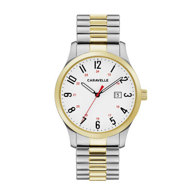 Caravelle Mens Two Tone Bracelet Watch-45b147