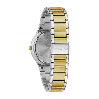 Caravelle Mens Two Tone Bracelet Watch-45d107