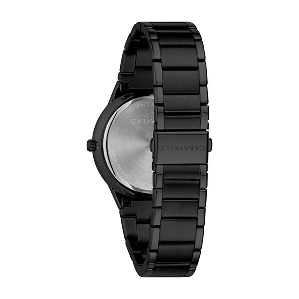 Caravelle Mens Black Bracelet Watch-45d108